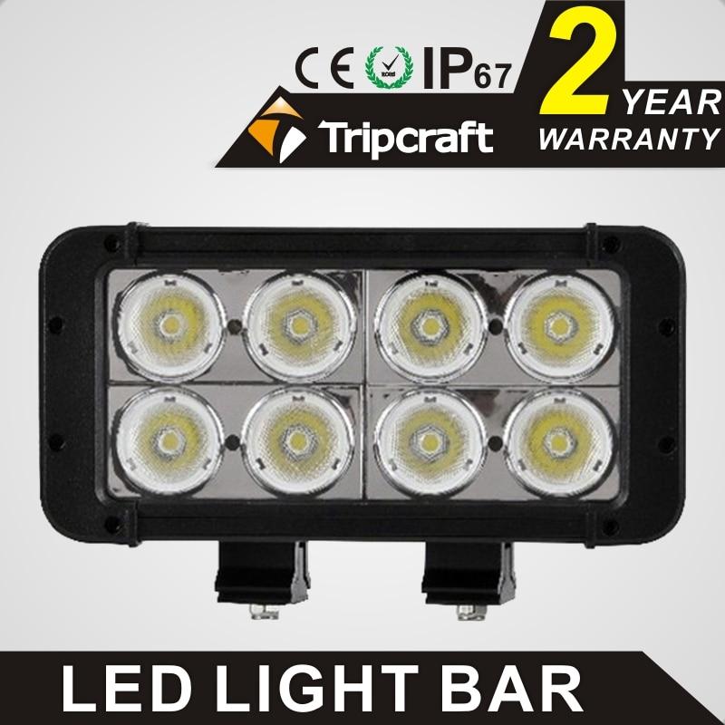 TRIPCRAFT 80w <font><b>led</b></font> work light bar 6000k dual row straight For Work Offroad Driving IP67 Waterpropof 7.8 Inch <font><b>Led</b></font> <font><b>ramp</b></font> lamp combo