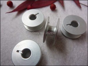 Image 2 - Industrial Embroidery Sewing Machine Aluminum Bobbins,Grooved,#55623A,W/ Height 8.8mm&OD20.8mm, 100Pcs/Lot,For Juki,Brother...