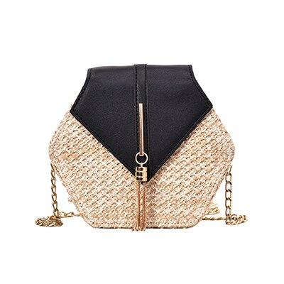 Hexagon Straw Bag Summer...