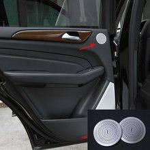 2 шт автомобилей для укладки крышка для аудиоколонок двери Динамик Стикеры для Mercedes Benz GLE ML W166 GLE купе C292 GL GLS X166 автомобильные аксессуары