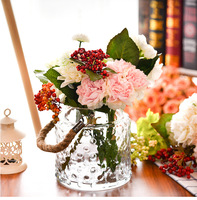 O.RoseLif Brand New creativity Hanging Glass Terrarium Vases With Rope Home decoration for wedding decoration