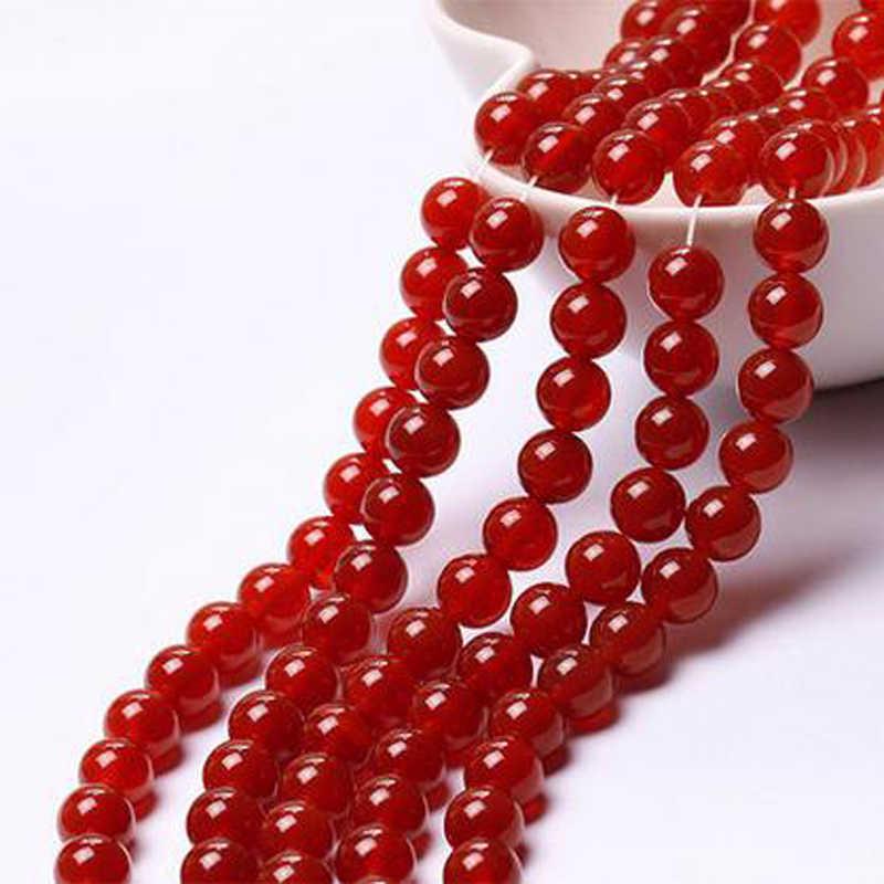 Mode Nieuwe 10MM Rode Agaat Kralen 15inches Natuurlijke Braziliaanse Facet Ronde Losse Kralen Sieraden Natuursteen Groothandel Prijs
