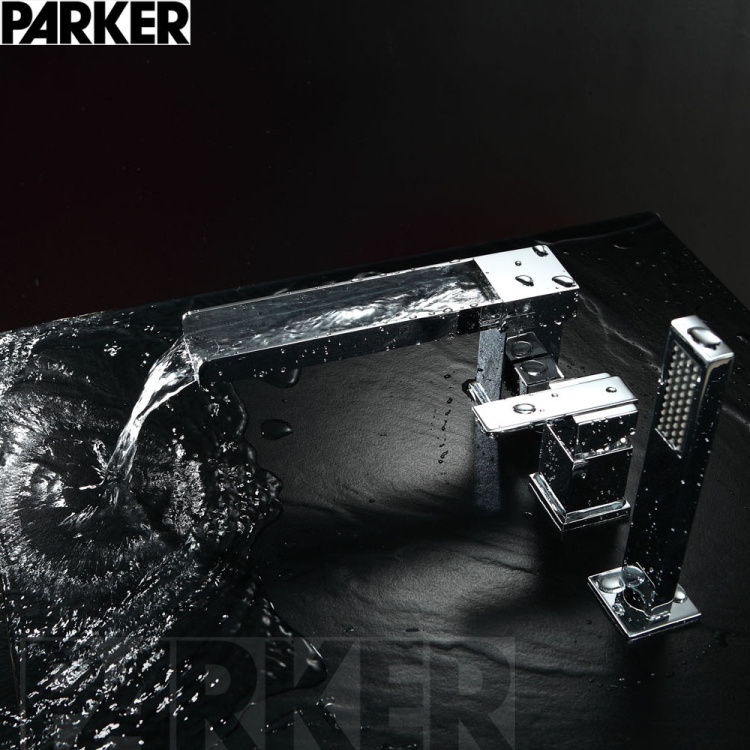 Медь Ванна коснитесь разделить три четыре банных смеситель для душа Outlet Кран для ванной Расширение Комплект