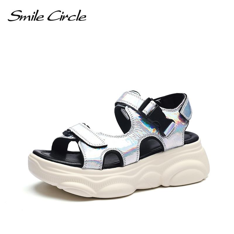 Smile Circle 2019 Summer Sandals Women Fashion Flat platform shoes Casual Ladies sandals shoesSmile Circle 2019 Summer Sandals Women Fashion Flat platform shoes Casual Ladies sandals shoes