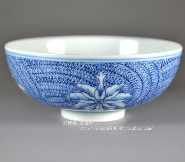 Chinese hand-painted color porcelain. Q1445 handmade blue and white cup white ceramic kung fu tea