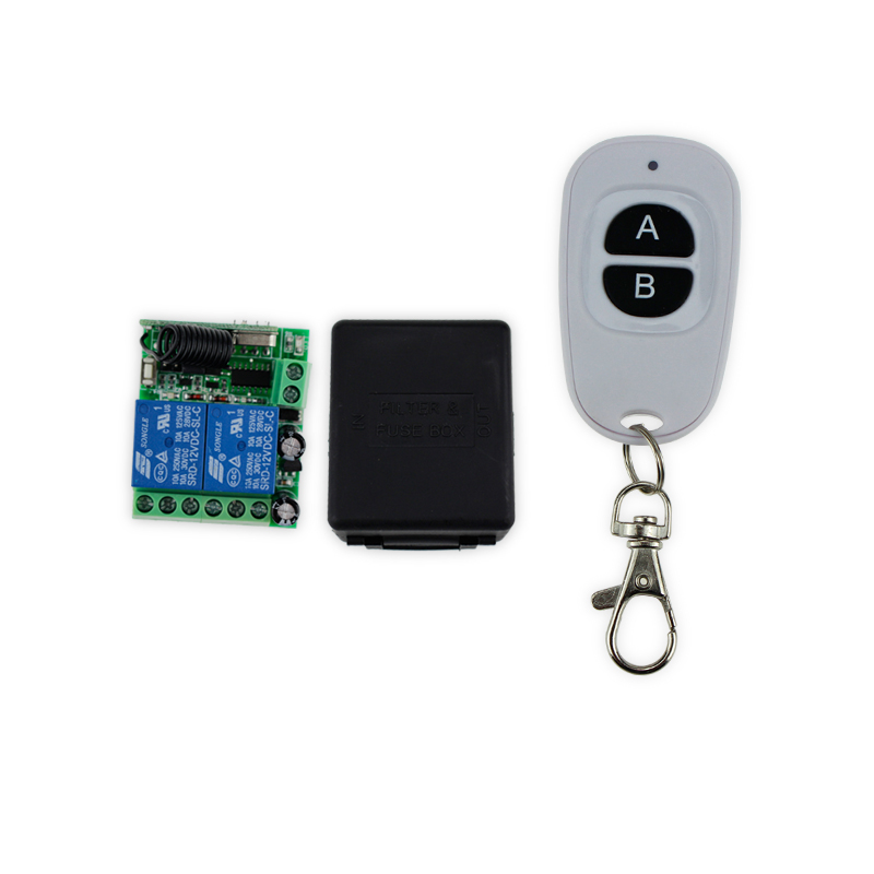Door Exit Switch Button 433MHz 12V 2 CH 50M wireless remote control switch+receiver+shell exit