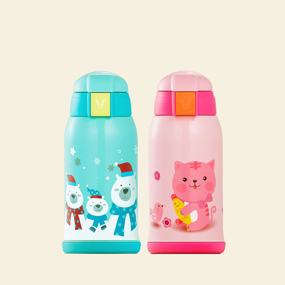 Xiaomi Viomi Children Thermos Stainless Steel Cup Portable Cartoon Animal Vacuum Milk Flasks Leak poof Travel
