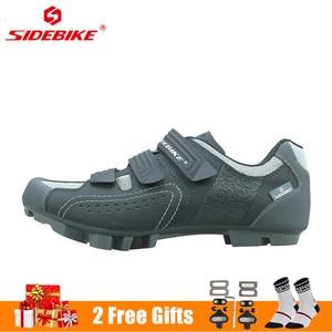 Image 2 - SIDEBIKE Men Women Mountain Bike Shoes Professional Lock Cycling Shoes Reflective Non slip Wear resistant Bicycle MTB Sneaker
