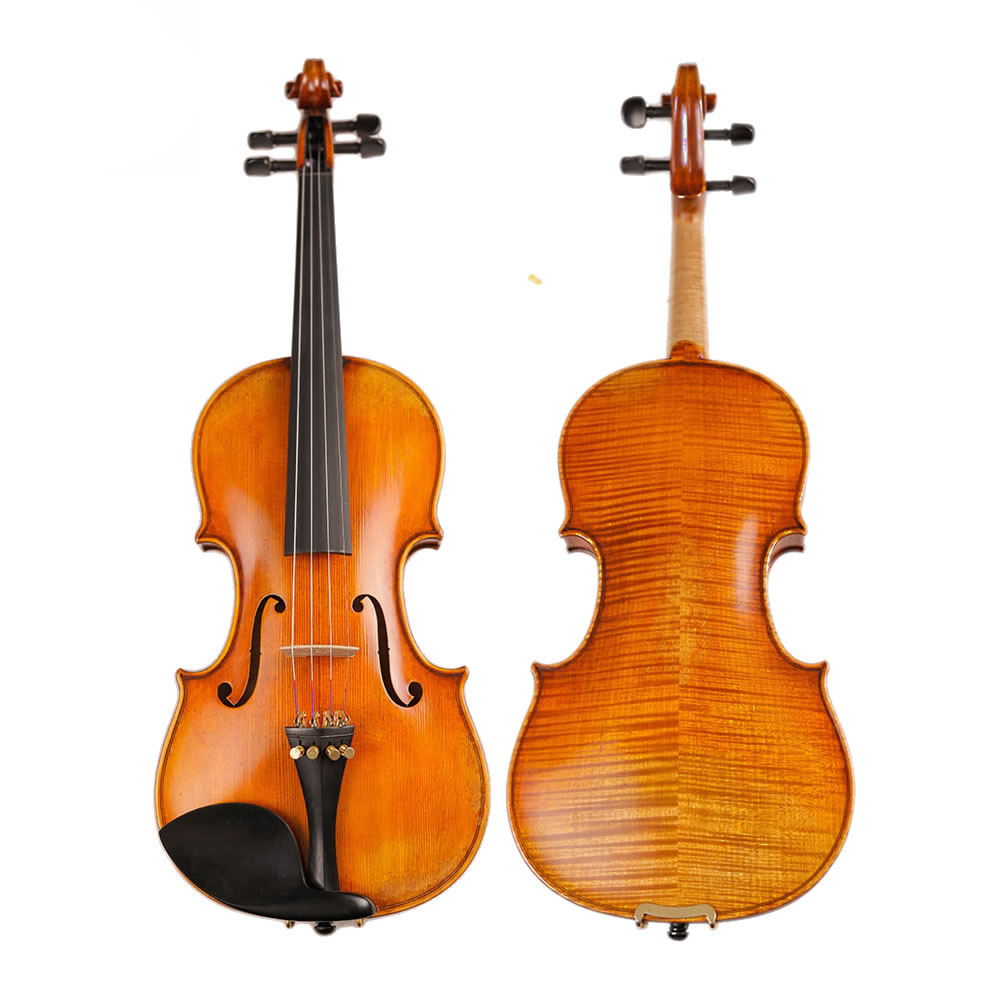 Master Handcraft Antique Violin professional Natural Dried 30 Years Old Europe Imported Stripes Maple Violin 4/4 for collection violins professional string instruments violin 4 4 natural stripes maple violon master hand craft violino with case bow rosin