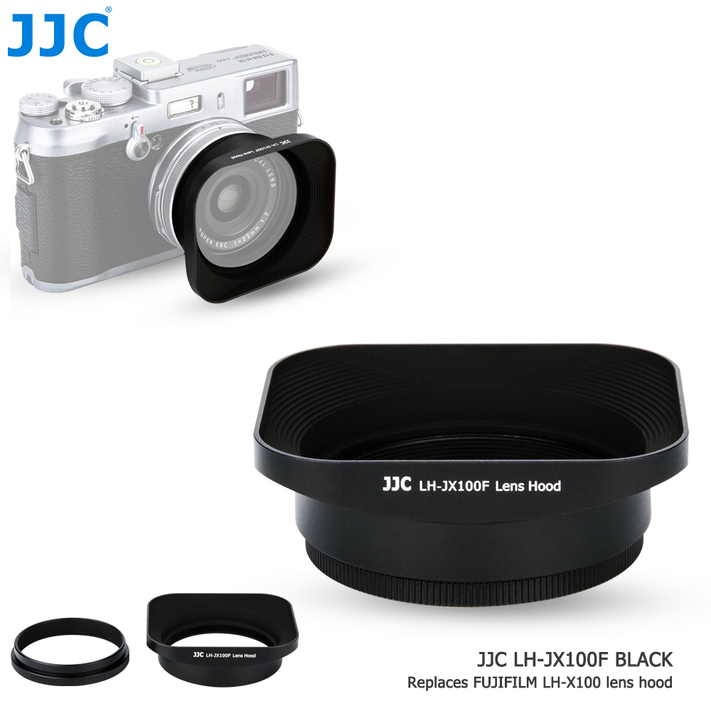 JJC Square Metal Camera Lens Hood 49mm Protector Adapter Ring Kit For Fujifilm X100 X100S X100T