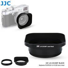 JJC Aluminum Alloy Camera Lens Protector  Black Silver Lens Hood Adapter Ring Kit For Fujifilm X100/X100S/X100T/ X100F /X70 аккумулятор digicare plf np95 np 95 для x30 x100 x100s x100t x s1