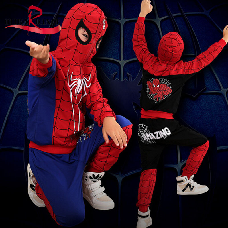 cosplay <font><b>costume</b></font> <font><b>spiderman</b></font> kids <font><b>boys</b></font> <font><b>costume</b></font> cotton <font><b>spiderman</b></font> <font><b>costume</b></font> <font><b>hoodie</b></font> top children pants carnival <font><b>costume</b></font>