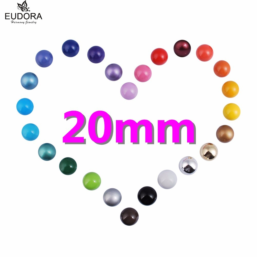 Euodra 20mm Chime Ball Musical Sounds Baby Angel Caller Smykker Gave Belly Bola Passer til Graviditet Harmony Locket Cage Pendant