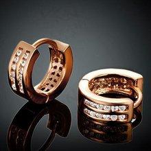 Двухрядные модная Роза Золотые женские серьги кольца