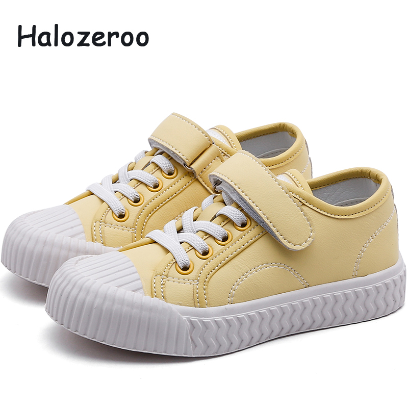 2019 New Autumn Kids Casual Sneakers Baby Girls Genuine Leather Shoes Children Sport Sneakers Boys Black Brand Sneakers Trainers