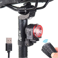 Lanterna traseira da bicicleta usb recarregável luz traseira inteligente anti roubo alarme luz da bicicleta mtb estrada luz de advertência de segurança|Luz de bicicleta| |  -