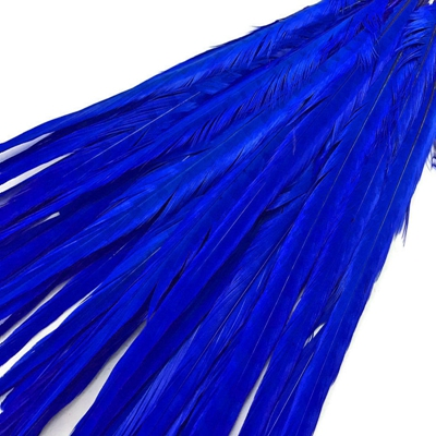 Inch 20 22 50 55CM royal blue Dyed Ringneck Pheasant Tail feathers