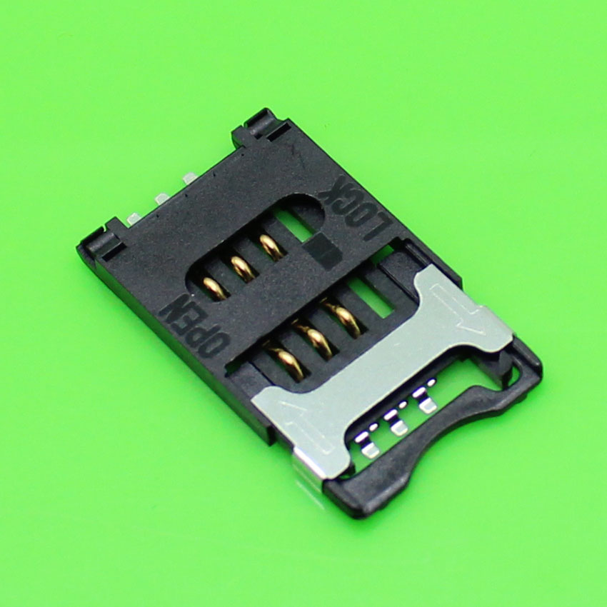 ChengHaoRan 1piece,New cell phone 6pin sim card socket slot holder replacement adapters.KA-007