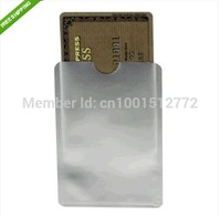 1000 RFID blocker card sleeves protected ID card Aluminium sleeve Anti Theft Credit Card shield extra 10pcs passport sleeve DHL