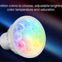 Mi light AC85-265V 4W GU10 RGB+CCT LED Dimmable 2.4G Wireles