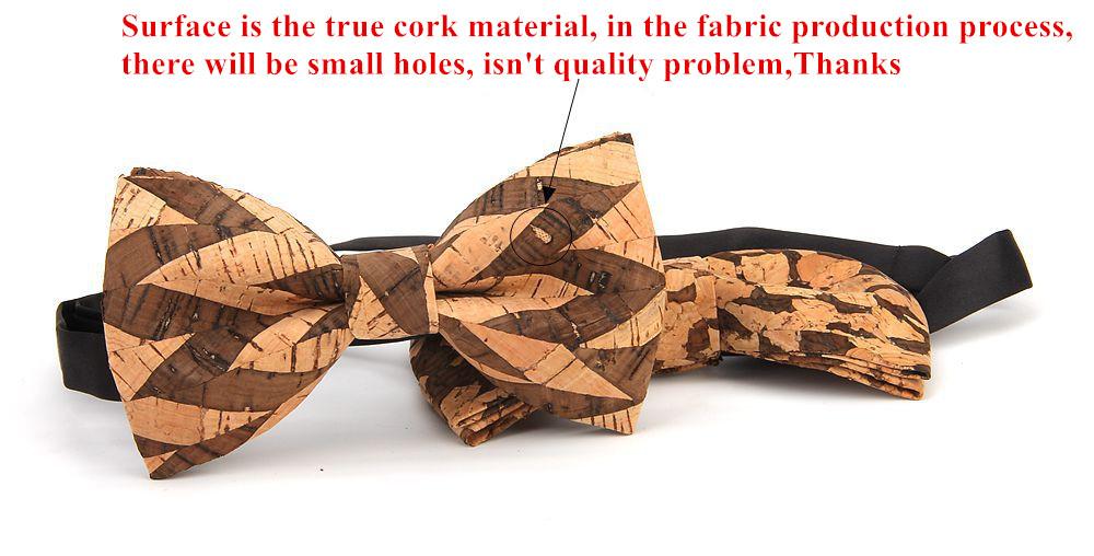 New Handmade Wooden Cork Bamboo Bow Tie Bowtie Men's Cravat 32