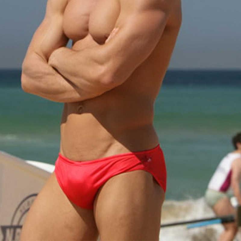 Maiô masculino de cintura baixa, roupa de banho lisa preta azul cinza vermelha branca amarela para mantraingle, cordão elástico, calcinhas de natação