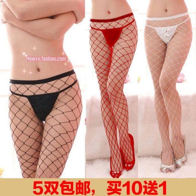 Envío gratis Envío gratis Japonés grandes redes de malla otoño hollow thin medias pantys transparentes medias de rejilla stocki