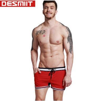 2018 brand DESMIIT beach   shorts   summer   shorts   men hot surf beach boxers men   board     shorts   quick-drying pants