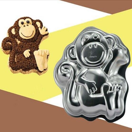 Festival Cake Design Cartoon Mascot Cute Monkeys Creative Aluminum