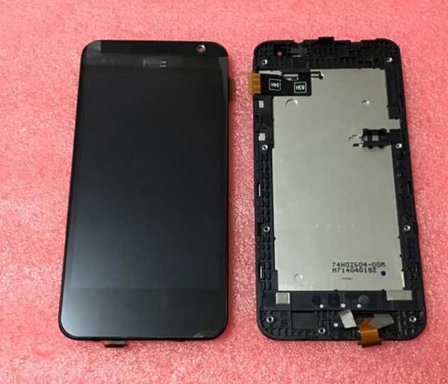Tela lcd + painel de toque digitador com frame para o htc desire 300 frete grátis