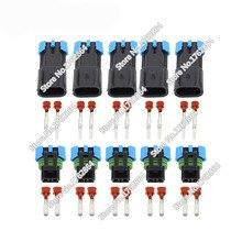 5 Set  Female Male GM Delphi 2 Pin Weather Pack Waterproof Sensor Fan Electronic Connector Auto Wire DJ7025W-2.8-11/21