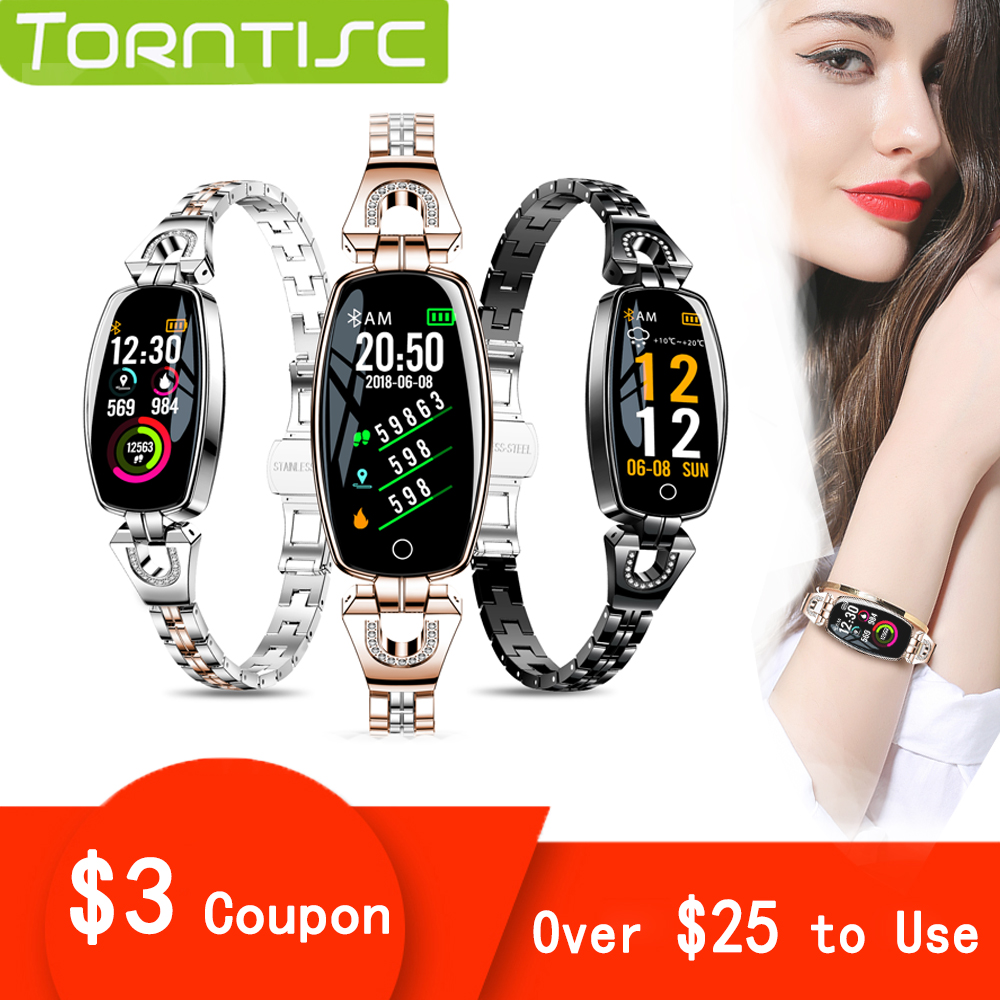 Torntisc H8 2019 Smart Watch Women Waterproof Heart Rate Monitor Calories Camera Remote Control Women SmartWatch