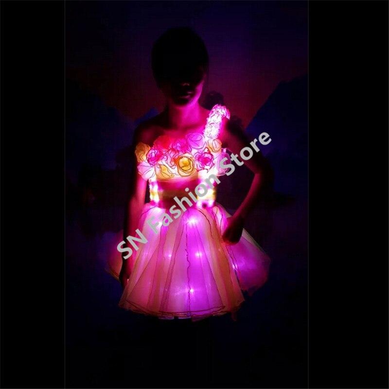 NºTC-142 color LED trajes vestido de boda programable salón luz RGB ...