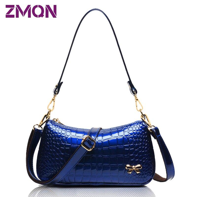 High Fashion Designer Brands 2016 New Women Handbags Crossbody Vrouwen Messenger Bags Crocodile Small Bag Leather Stone Pattern
