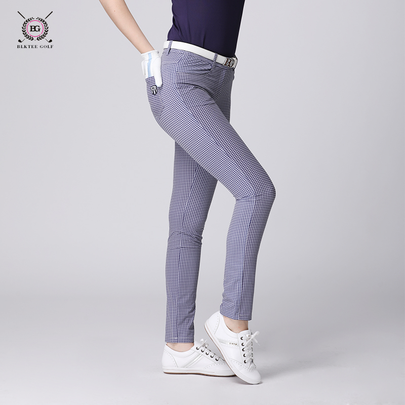 Brand golf pants lady BG golf apparrel women long pants spring summer trousers houndstoothpants elastic slim sports style top цена