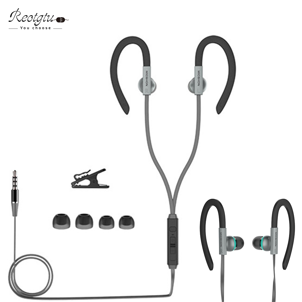 High quality universal 3.5mm in-ear headset with microphone HIFI audio subwoofer intelligent earphone support handsfree