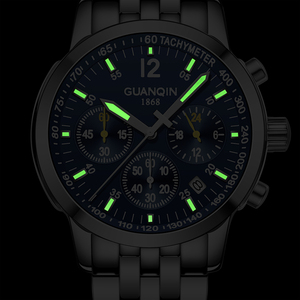 Image 3 - Erkek kol saati GUANQIN 2019 メンズ腕時計ビジネスクォーツ時計防水時計メンズ腕時計トップブランドの高級クロノグラフ腕時計