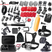 YOOCUANG For GoPro accessories Family Kit Go Pro SJ6000 accessories set package for GoPro HD Hero 5 3+ 4 xiaomi yi Y09