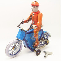 Novelty Bicycle Model Tin Wind Up Toys For Kid Adults Handmade Vintage Toys Children S