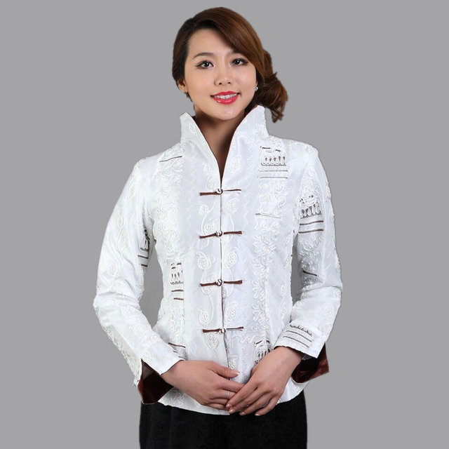 Alta qualidade de seda de cetim jaqueta de mangas compridas flores sml XL XXL XXXL Mujeres Chaqueta Mny20-A
