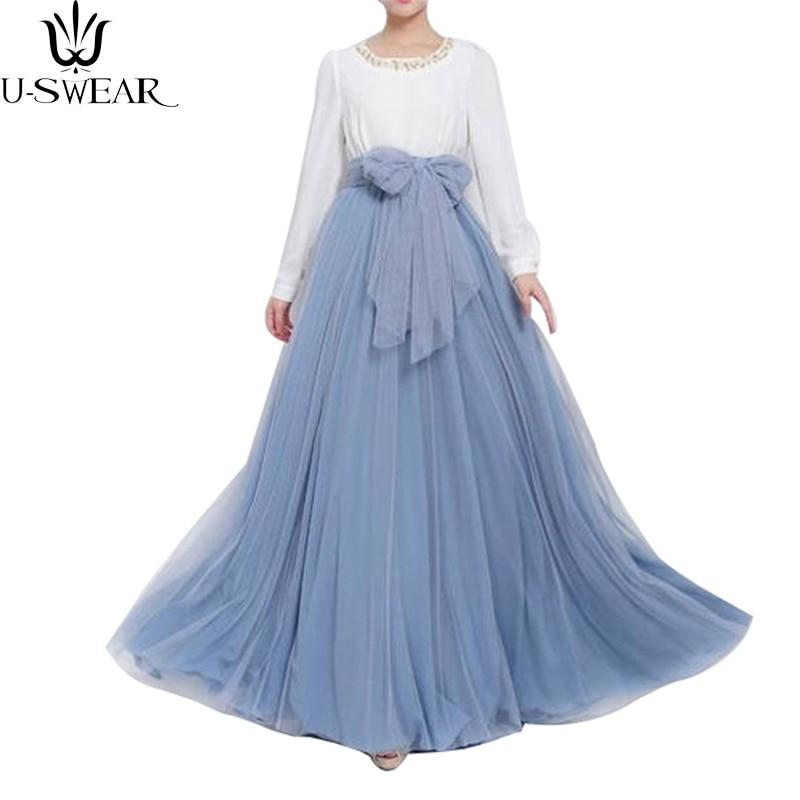 Vestidos Maxi Long Skirt Women Soft Tulle Skirts Wedding Bridesmaid Tutu Skirt Ball Gown Plus Size Faldas Saias