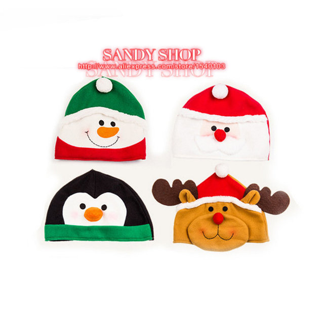 snowman deer santa clauspenguin novelty christmas hats party christmas hats