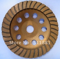 7'' NCCTEC diamond grinding CUP wheel | 180mm Concrete grinding disc  | Turbo disc