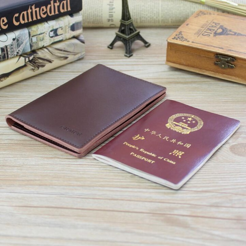 Passport Cover Men Slim Genuine Leather Business Women Picket Clip Wallet Male Card Holder Clutch Wallet Money Bag Purse 2017 simline vintage handmade genuine leather cowhide cover a6 loose leaf traveler s notebook diary passport holder cover wallet men