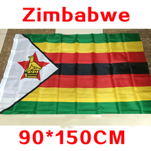 2017 The Zimbabwe Flag Polyester Flag 5*3 FT 150*90 CM banner High Quality you Can Flying&Hanging