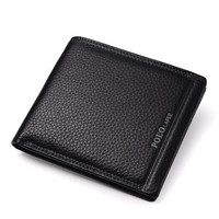 2018 Business Men wallet Genuine Leather Cion Purse Men Wallets Cowhide Card Holder Pocket