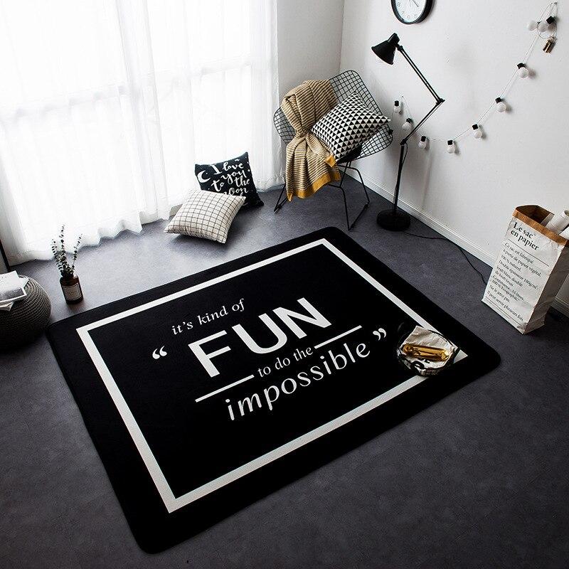 Nouveau Style nordique décor flanelle velours motif de cerf grand salon plancher enfant ramper tapis de jeu tapis Table sont tapis tapis - 2