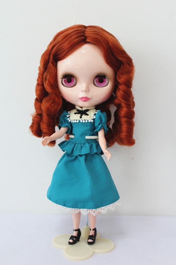 Free Shipping big discount RBL-162DIY Nude Blyth doll birthday gift for girl 4colour big eyes dolls with beautiful Hair cute toy free shipping bjd joint rbl 354j diy nude blyth doll birthday gift for girl 4 colour big eyes dolls with beautiful hair cute toy