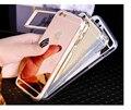 Espejo de lujo Delgado Caja Del Teléfono Celular Para Apple iPhone6 6 S Marco de Protección de Silicona Suave Cubierta Trasera 100 unids/lote DHL envío rápido