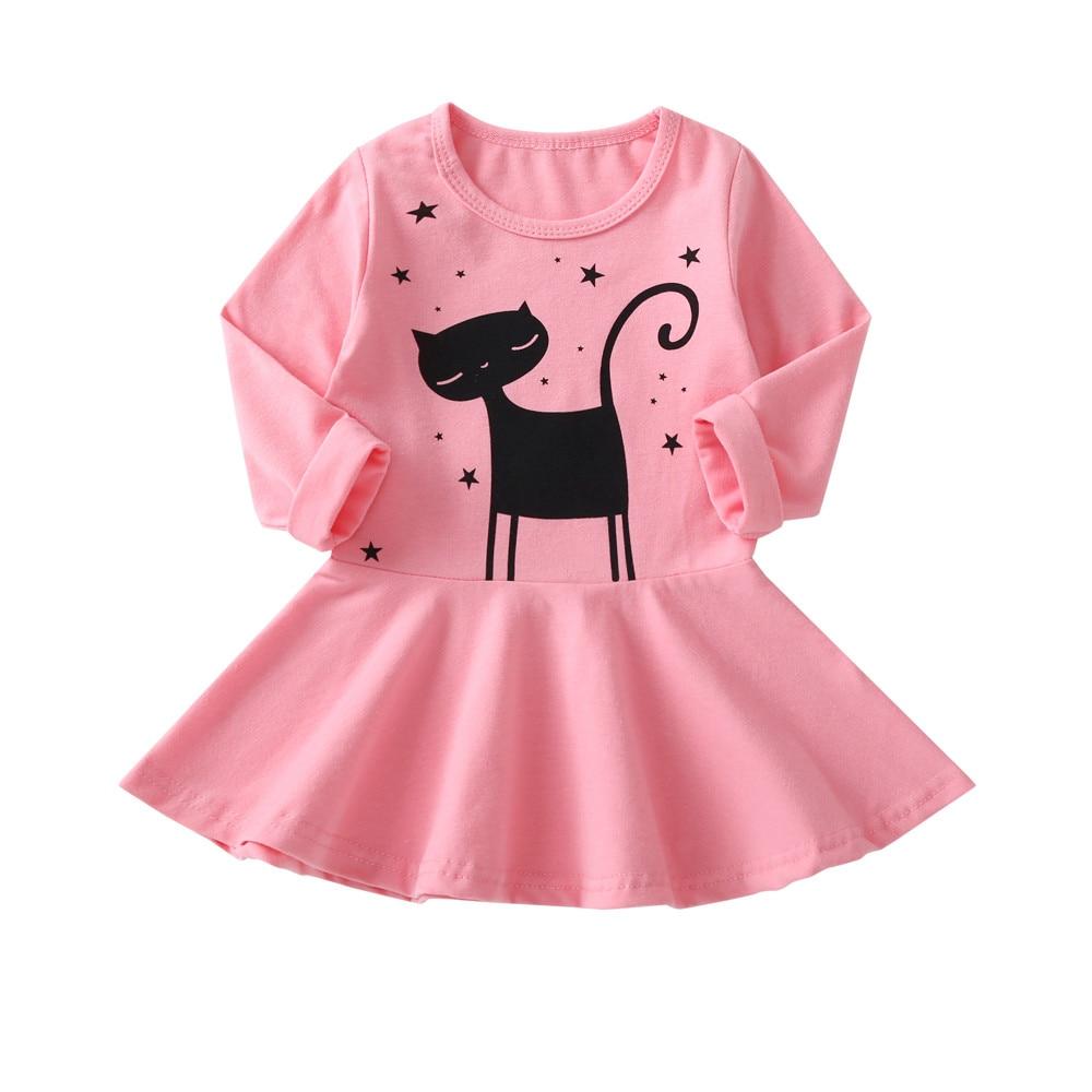 HTB1oSpeq8jTBKNjSZFwq6AG4XXa6 1-7 Years Kids Girl Dress Toddler Baby Long Sleeve Dresses Summer Children Clothing Girls Cotton Princess Dress Kid Tops Outfits